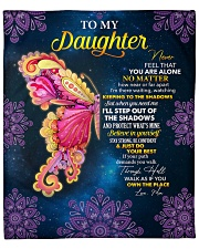 """Never Feel U Are Alone Butterfly Mom To Daughter Fleece Blanket - 50"""" x 60"""" front"""