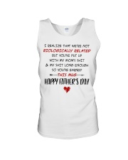 We're Not Biologically Related Happy Father's Day Unisex Tank thumbnail