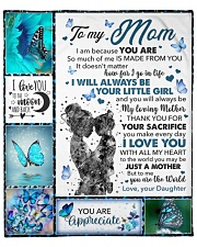 "Mom Butterfly You'll Always Be My Loving Mother Fleece Blanket - 50"" x 60"" front"