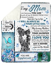 "Mom Butterfly You'll Always Be My Loving Mother Sherpa Fleece Blanket - 50"" x 60"" thumbnail"