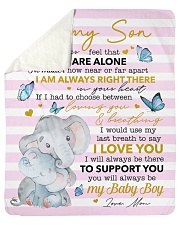 Never Feel U Are Alone Elephants Mom To Son Sherpa Fleece Blanket tile