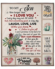 """Never Forget That I Love You - Mom To Son Fleece Blanket - 50"""" x 60"""" front"""