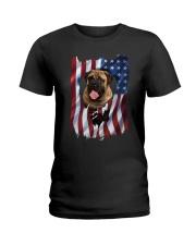 American Flag Bullmastiff Ladies T-Shirt thumbnail