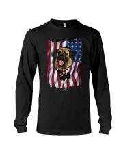 American Flag Bullmastiff Long Sleeve Tee thumbnail