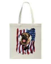 American Flag Bullmastiff Tote Bag thumbnail