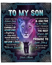 """I Want U To Belive Deep Lion Mom To Son Fleece Blanket - 50"""" x 60"""" front"""