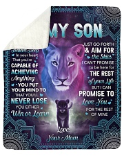 """I Want U To Belive Deep Lion Mom To Son Sherpa Fleece Blanket - 50"""" x 60"""" thumbnail"""