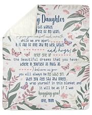Inside Blanket A Piece Of My Heart Mom To Daughter Sherpa Fleece Blanket tile