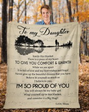"""Inside This Blanket Piece Of My Heart To Daughter Fleece Blanket - 50"""" x 60"""" aos-coral-fleece-blanket-50x60-lifestyle-front-01b"""