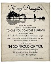 """Inside This Blanket Piece Of My Heart To Daughter Fleece Blanket - 50"""" x 60"""" front"""