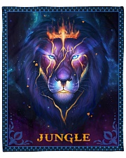 """Jungle - Lion Mom To Son Fleece Blanket - 50"""" x 60"""" front"""
