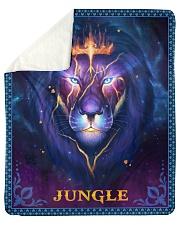 Jungle - Lion Mom To Son Sherpa Fleece Blanket tile