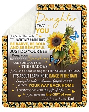"""Never Forget That I Love Sunflower Dad To Daughter Sherpa Fleece Blanket - 50"""" x 60"""" thumbnail"""