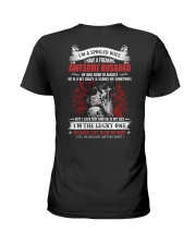 I'm A Spoiled Wife Have A Freaking Awesome Husband Ladies T-Shirt back