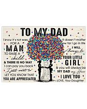You'll Always Be My Dad My Hero I Love U - For Dad 17x11 Poster front