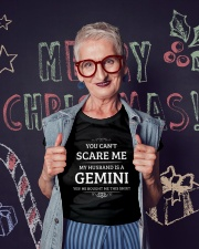 You Can't Scare Me My Husband Is A Gemini Ladies T-Shirt lifestyle-holiday-crewneck-front-3
