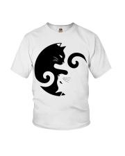 Yin Yang Cat Youth T-Shirt thumbnail
