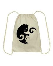 Yin Yang Cat Drawstring Bag thumbnail