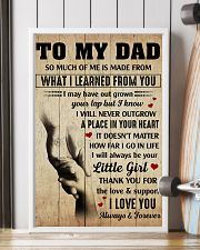 To my Dad thank you for the love and support 11x17 Poster lifestyle-poster-4