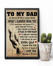 To my Dad thank you for the love and support 11x17 Poster lifestyle-poster-8