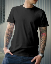 Family Behind Son Classic T-Shirt lifestyle-mens-crewneck-front-6