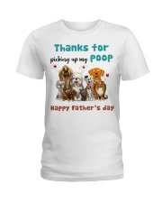 Thanks for picking up my poop  Ladies T-Shirt front