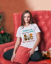 Thanks for picking up my poop  Ladies T-Shirt lifestyle-holiday-womenscrewneck-front-2