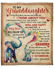 """Everyday I Think About U GM-Granddaughter Fleece Blanket - 50"""" x 60"""" front"""
