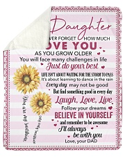 Never Forget How Much I Love U Dad To Daughter Sherpa Fleece Blanket tile