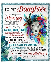 "Never Forget That I Love U Mom To Daughter Fleece Blanket - 50"" x 60"" front"