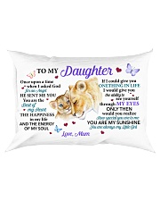 Once Upon A Time When I Asked God Mom To Daughter Rectangular Pillowcase front