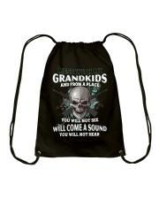 Mess With My Grandkids Drawstring Bag thumbnail