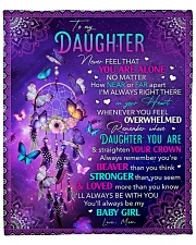 """Never Feel That U Are Alone Mom To Daughter Fleece Blanket - 50"""" x 60"""" front"""