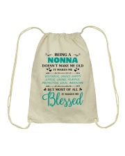 Being A Nonna Makes Me Blessed Drawstring Bag thumbnail