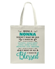 Being A Nonna Makes Me Blessed Tote Bag thumbnail
