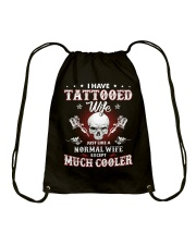 I Have Tattooed Wife Drawstring Bag thumbnail