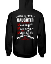 I have a pretty Daughter be careful Hooded Sweatshirt thumbnail