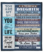 """Never Forget The Important Thing Dad To Daughter Fleece Blanket - 50"""" x 60"""" front"""