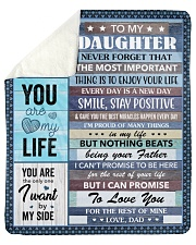 """Never Forget The Important Thing Dad To Daughter Sherpa Fleece Blanket - 50"""" x 60"""" thumbnail"""