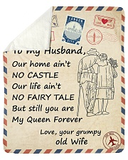 Our Home Ain't No Castle - Wife To Husband Sherpa Fleece Blanket tile