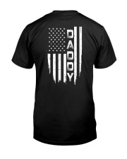 Daddy American Flag - For Dad Classic T-Shirt back