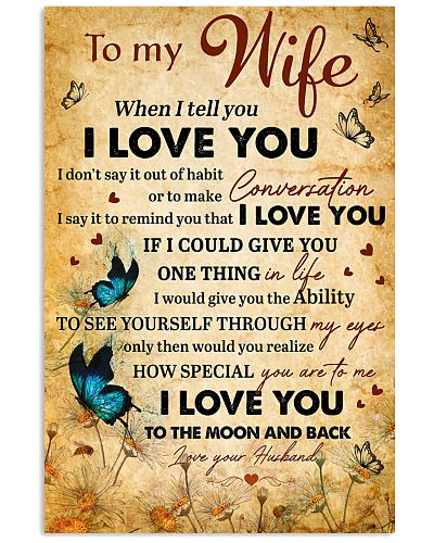Wife BlueButterfly I Love You To The Moon And Back
