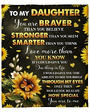 """You Are Braver Than You Believe - Mom To Daughter Fleece Blanket - 50"""" x 60"""" front"""