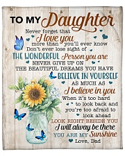 """Never Forget That I Love You Dad To Daughter Fleece Blanket - 50"""" x 60"""" front"""