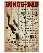 Bonus Dad - Thank you for loving me as you own 11x17 Poster front