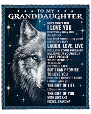 """Never Forget That I Love U Wolf GM To GD Fleece Blanket - 50"""" x 60"""" front"""