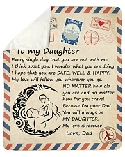 Every single day that you arent with me D-Daughter Sherpa Fleece Blanket tile