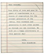 "Your Story Of Love Notebook Grandkids To Grandma Fleece Blanket - 50"" x 60"" front"