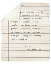 Your Story Of Love Notebook Grandkids To Grandma Sherpa Fleece Blanket tile