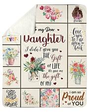 "To My Dear Daughter Sherpa Fleece Blanket - 50"" x 60"" front"